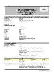 SIKKERHEDSDATABLAD Antibac Vådservietter for overflade 75%