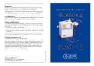 Brugsanvisning på SAM 12 sugepumpe - Mediq Danmark A/S