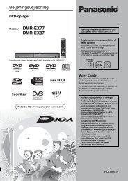 Apparat brugervejledning DK - OneRemote