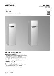 Datenblatt Vitocal 333-G/333-G NC und Vitocal 343-G