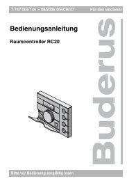 Bedienungsanleitung - Buderus