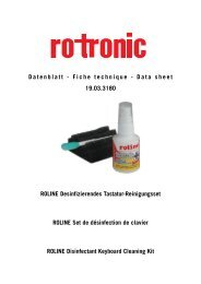 Safety Data Sheet - ROTRONIC