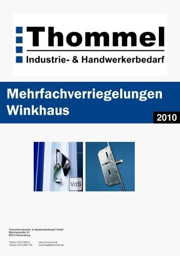 Winkhaus Mehrfachverriegelungen 2010 - Thommel I & H GmbH