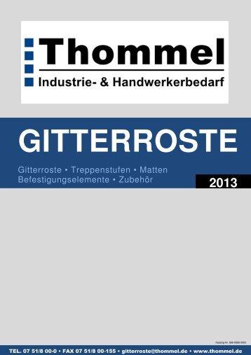 Thommel Gitterroste - Thommel I & H GmbH