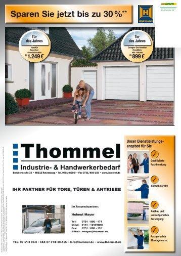 Sparen Sie jetzt bis zu 30 %** en - Thommel I & H GmbH