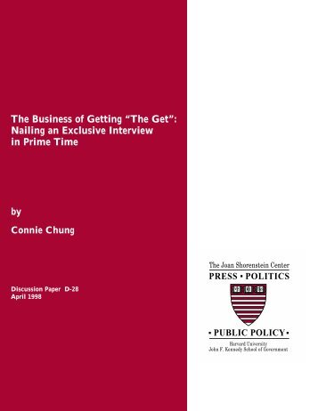 "The Business of Getting ""The Get"" - Joan Shorenstein Center on the ..."