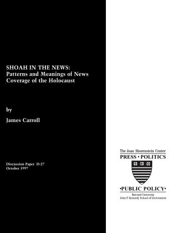 Shoah in the News - Joan Shorenstein Center on the Press, Politics ...