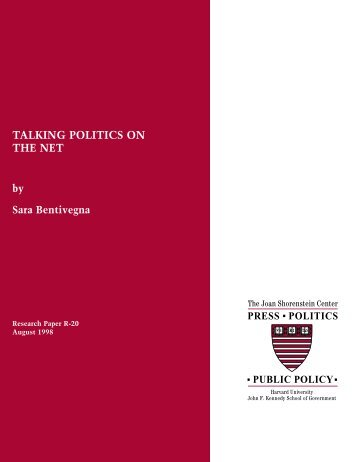 81794 paper - Joan Shorenstein Center on the Press, Politics and ...