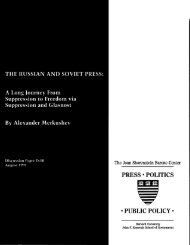 PRESS . POLITICS . PUBLIC POLICY . - Joan Shorenstein Center ...