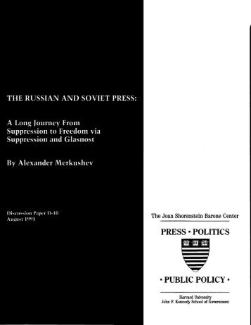 PRESS . POLITICS . PUBLIC POLICY . - Joan Shorenstein Center ...