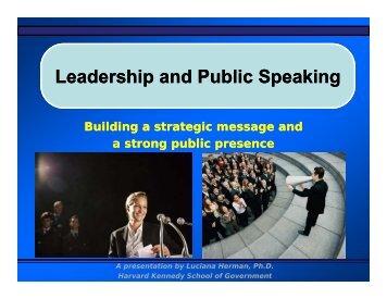 Leadership and Public Leadership and Public Speaking