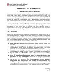 White Papers and Briefing Books - Joan Shorenstein Center on the ...