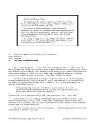 Re: The Craft of Memo Writing - Harvard Kennedy School - Harvard ...