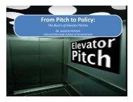 From Pitch to Policy: From Pitch to Policy: The Basics of Elevator ...