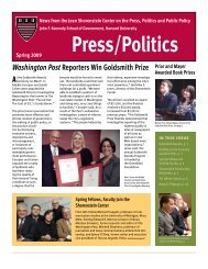 Spring 2009 - Joan Shorenstein Center on the Press, Politics and ...