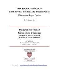 Read the full paper (PDF) - Joan Shorenstein Center on the Press ...