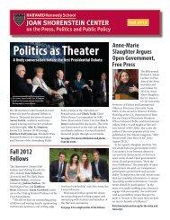 Fall 2012 - Joan Shorenstein Center on the Press, Politics and ...