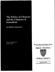 PUBLIC POLICY - Joan Shorenstein Center on the Press, Politics ...