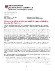 press release - Joan Shorenstein Center on the Press, Politics and ...