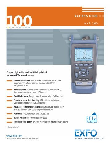 exfo ftb 200 otdr user manual
