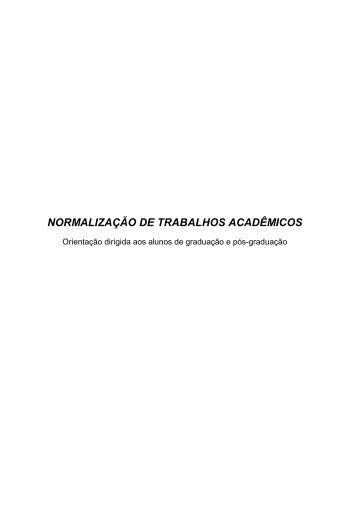 NORMALIZAÇÃO DE TRABALHOS ACADÊMICOS - SIB - Iesam