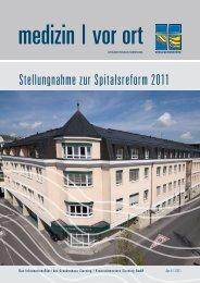 Stellungnahme zur Spitalsreform 2011 - Kreuzschwestern Sierning ...