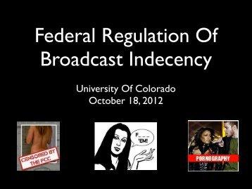 University Of Colorado October 18, 2012 - Silicon Flatirons