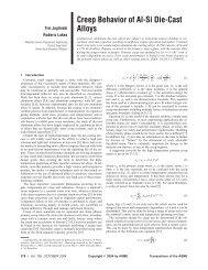 Creep Behavior of Al-Si Die-Cast Alloys - University of Wisconsin ...