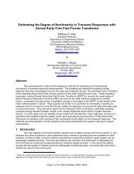 Estimating the Degree of Nonlinearity in Transient Responses with ...