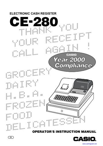 sharp electronic cash register manual