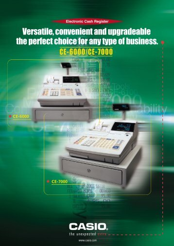 CE-6000/CE-7000 - Cash Registers