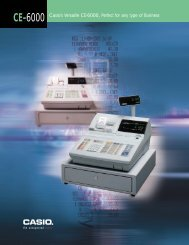 CE-6000 - Cash Registers