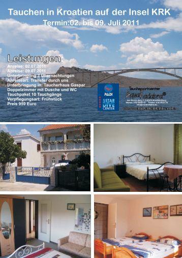 Tauchen in Kroatien auf der Insel KRK Termin:02 ... - Aquakadabra