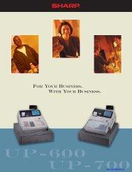 Sharp_UP-700_Brochur.. - Cash Registers