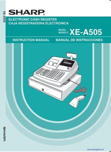 xe a201 operations manual control business systems rh yumpu com sharp electronic cash register xe-a201 manual Sharp Cash Register Manual