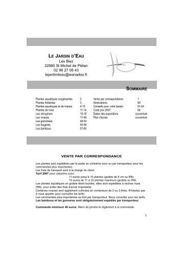 lejardindeau.com catalogue pdf - Plantes Web
