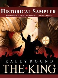 rally round the king – historical sampler - Two Hour Wargames