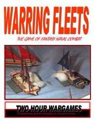 THE GAME OF FANTASY NAVAL COMBAT - Two Hour Wargames