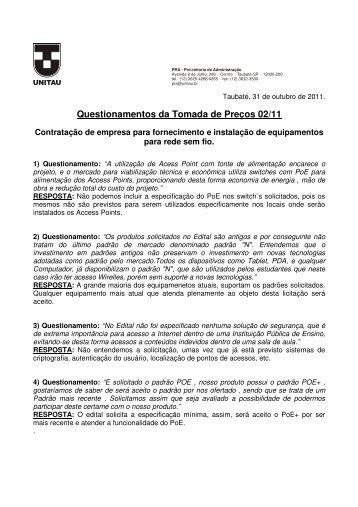 Resposta aos Questionamentos TP 02-11.pdf - unitau