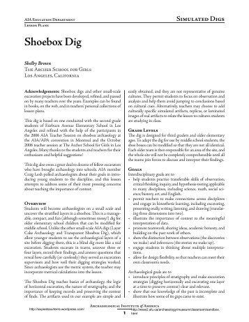 Shoebox Dig - Six pieds sur Terre
