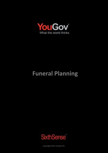 Funeral Planning - SixthSense - YouGov