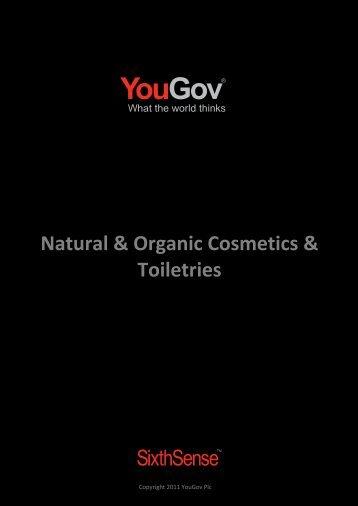 Natural & Organic Cosmetics & Toiletries - SixthSense - YouGov