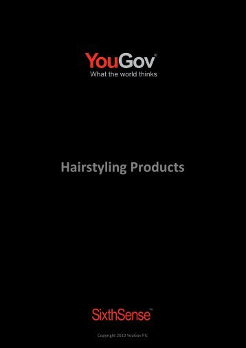 Hairstyling Products - SixthSense - YouGov