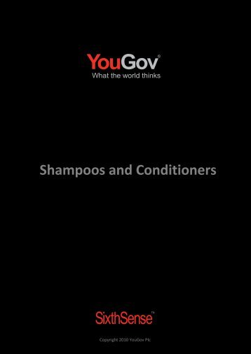 Shampoos and Conditioners - SixthSense - YouGov
