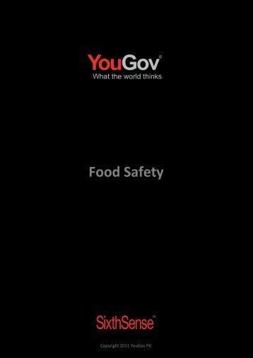 Food Safety - SixthSense - YouGov