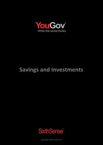 Savings and Investments - SixthSense - YouGov