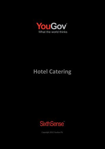 Hotel Catering - SixthSense - YouGov