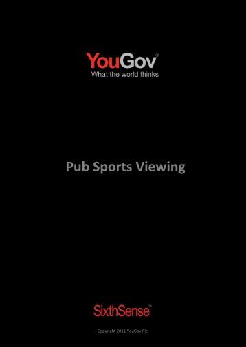 Pub Sports Viewing - SixthSense - YouGov