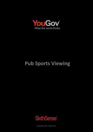 Pub Sports Viewing - SixthSense - YouGov