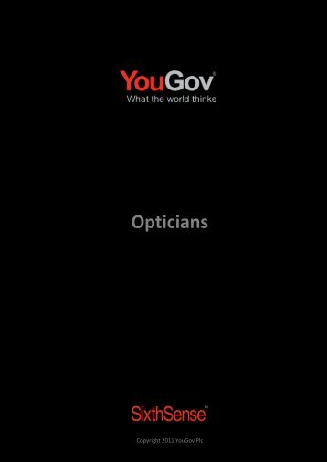 Opticians - SixthSense - YouGov